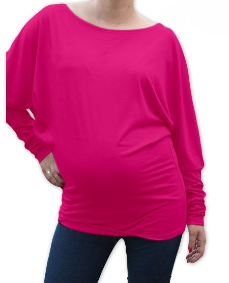 Be MaaMaa Symetrická těhotenská tunika - růžová