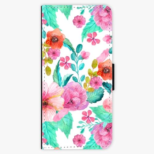 Flipové pouzdro iSaprio - Flower Pattern 01 - Samsung Galaxy S8 Plus
