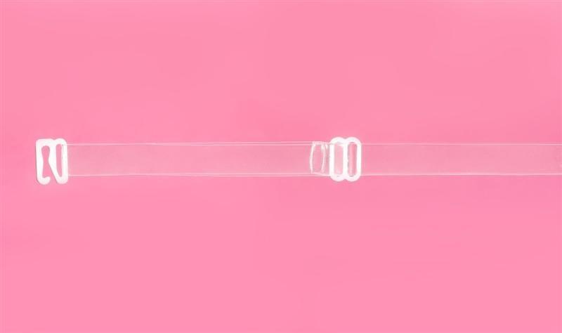 Silikonová ramínka s bílým posouváním - Julimex - Průhledná/16 mm