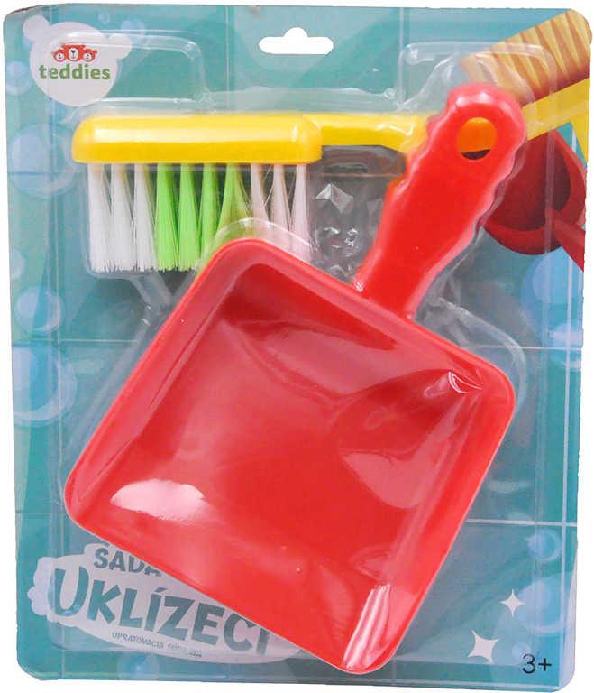 Malá uklízečka set uklízecí smetáček a lopatka plast