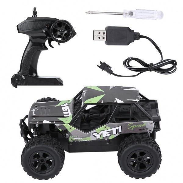 YETI 2WD - 21cm - 20km/h - zelený