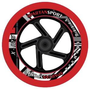 MONDO Koloběžka dětská Spartan Formule Super X125 černo-červená skládací