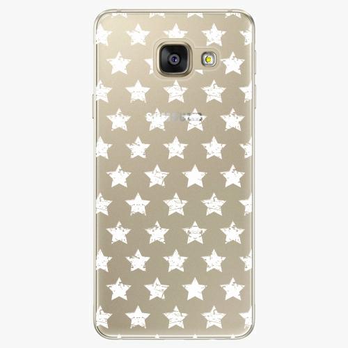 Plastový kryt iSaprio - Stars Pattern - white - Samsung Galaxy A3 2016