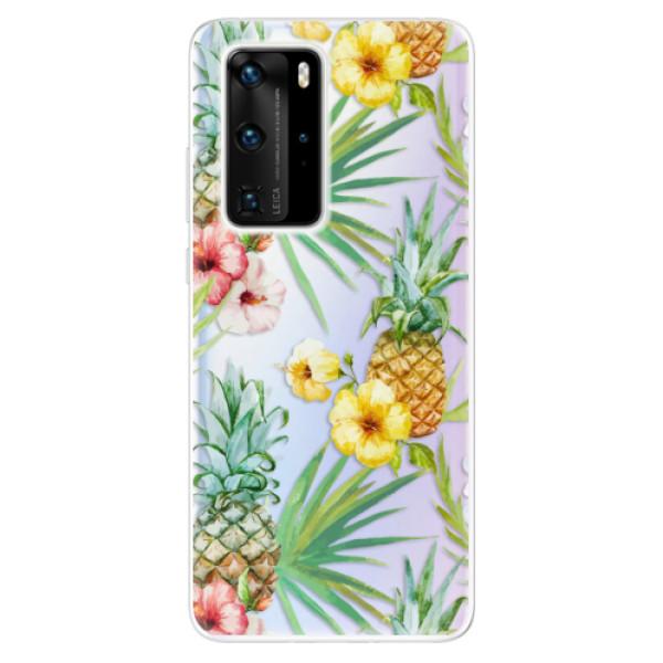 Odolné silikonové pouzdro iSaprio - Pineapple Pattern 02 - Huawei P40 Pro