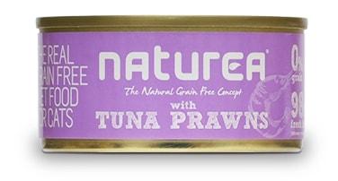 Naturea GF cat vlhké - Tuna, Prawns 80g