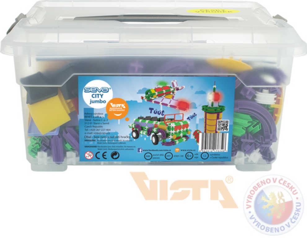 VISTA SEVA City Jumbo polytechnická STAVEBNICE 686 dílků v plastovém boxu