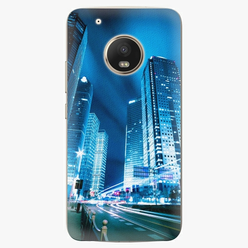 Plastový kryt iSaprio - Night City Blue - Lenovo Moto G5 Plus
