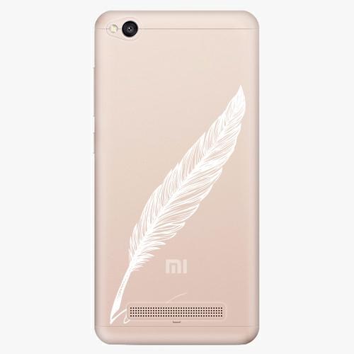 Plastový kryt iSaprio - Writing By Feather - white - Xiaomi Redmi 4A