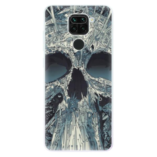 Odolné silikonové pouzdro iSaprio - Abstract Skull - Xiaomi Redmi Note 9