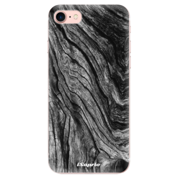 Odolné silikonové pouzdro iSaprio - Burned Wood - iPhone 7