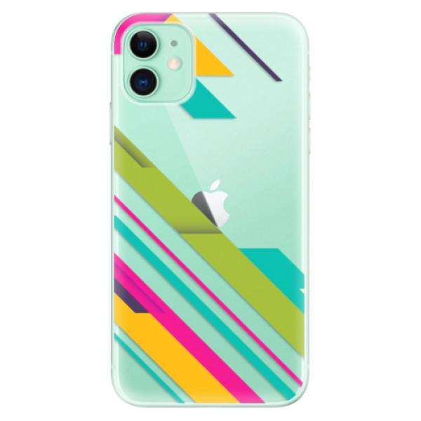 Odolné silikonové pouzdro iSaprio - Color Stripes 03 - iPhone 11