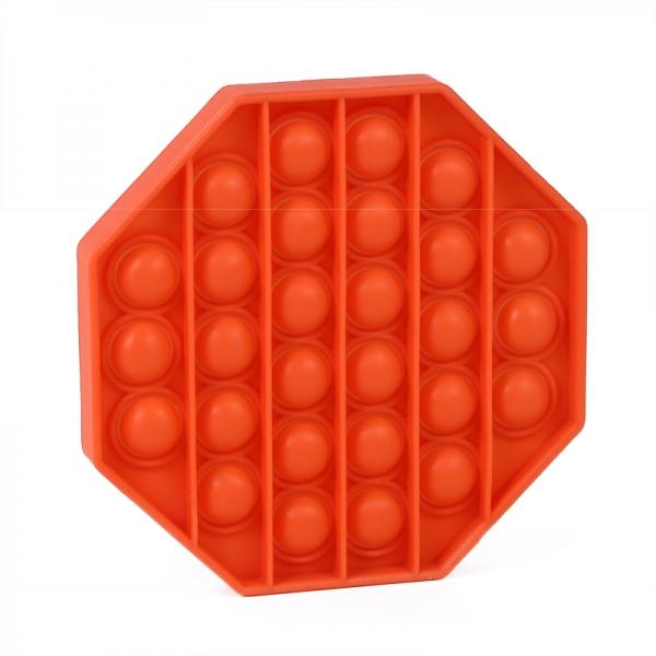 Pop It - Praskající bubliny silikon antistresová spol. hra, osmihran, oranžová