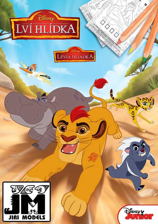 JIRI MODELS Omalovánky A4 Lví hlídka Lion King (Lví Král)