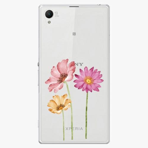 Plastový kryt iSaprio - Three Flowers - Sony Xperia Z1