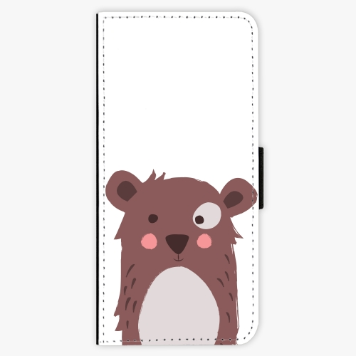 Flipové pouzdro iSaprio - Brown Bear - Samsung Galaxy Note 8