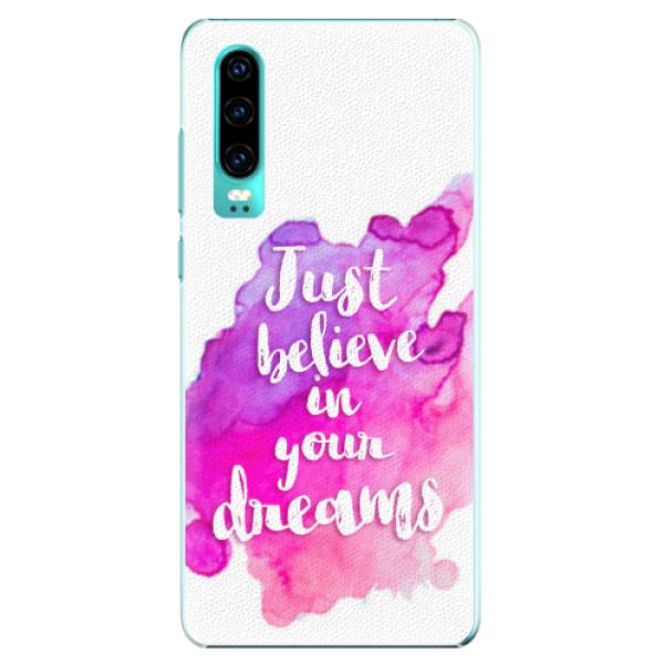 Plastové pouzdro iSaprio - Believe - Huawei P30