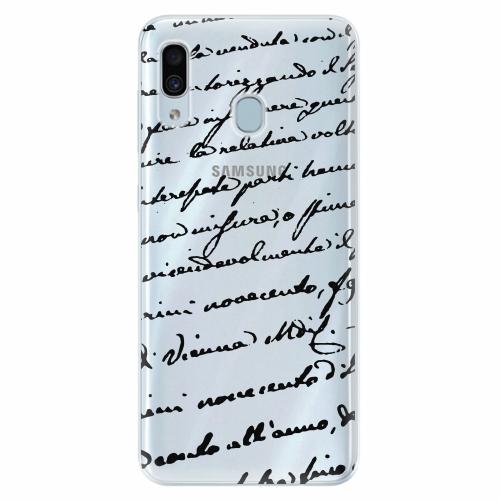 Silikonové pouzdro iSaprio - Handwriting 01 - black - Samsung Galaxy A30