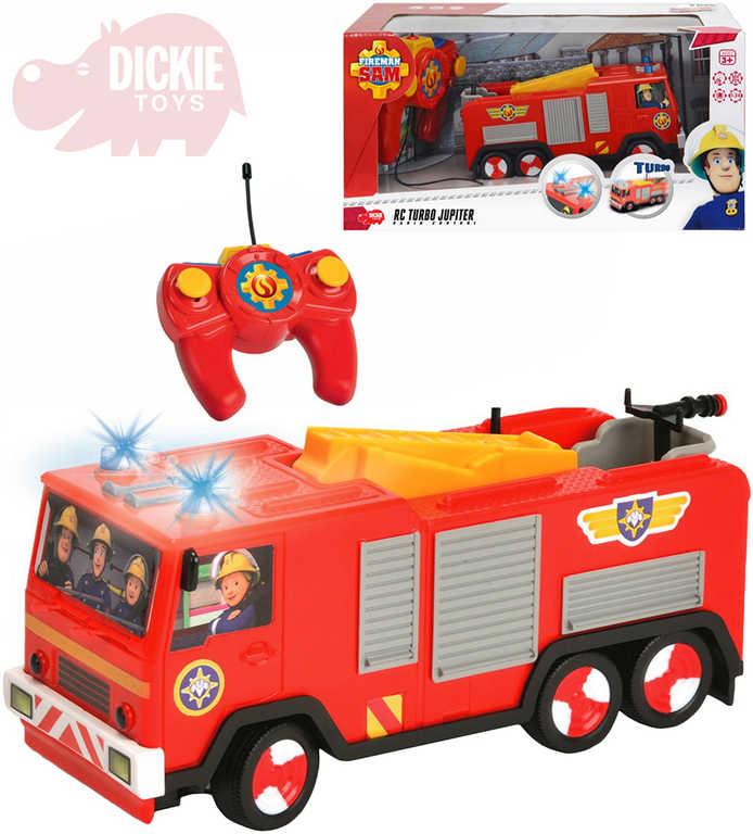 DICKIE RC Auto hasičské Jupiter Požárník Sam na vysílačku 27MHz na baterie Světlo
