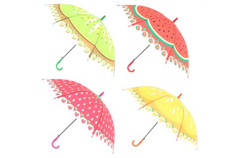 Deštník ovoce vystřelovací