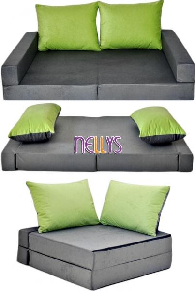 nellys-rozkladaci-detska-pohovka-3-v-1-p14-seda-zelena