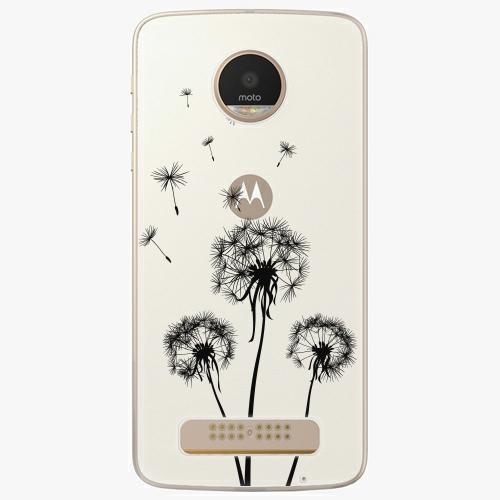 Plastový kryt iSaprio - Three Dandelions - black - Lenovo Moto Z Play