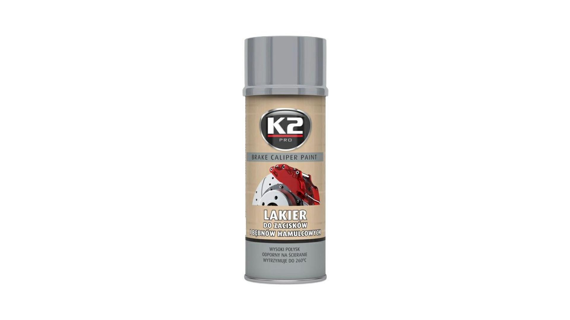 K2 BRAKE CALIPER PAINT 400ml STŘÍBRNÁ - barva na brzdové třmeny a bubny