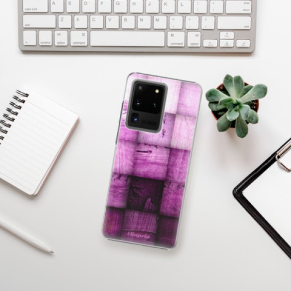 Plastové pouzdro iSaprio - Purple Squares - Samsung Galaxy S20 Ultra