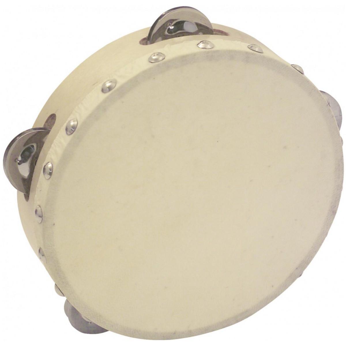 """Dimavery DTH-704 tamburína 7"""", 4 plíšky"""