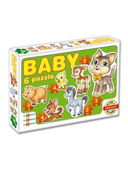 Dětské Baby puzzle - zelená