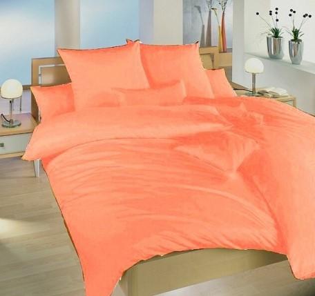 Francouzské povlečení krep UNI 240x220, 70x90cm Oranžové, Výběr zapínání: