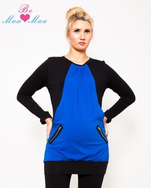 Be MaaMaa Těhotenská tunika UMA - modrá/černá