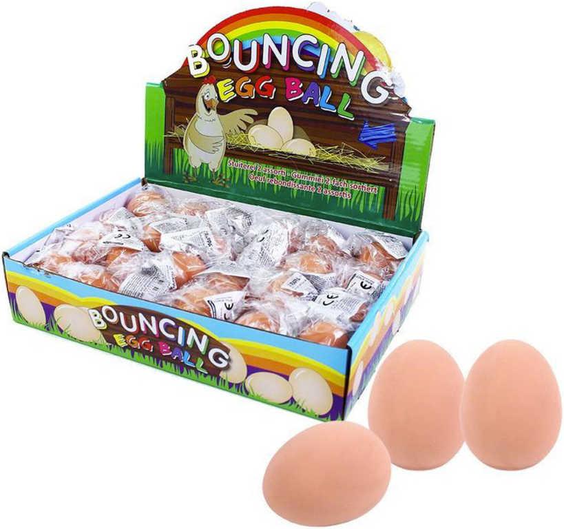 Míč gumový vejce 5,5cm náhodný odraz dětská žertovinka v sáčku