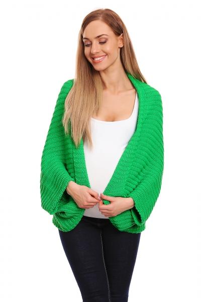 Be MaaMaa Volný těhotenský kardigan - zelený - UNI