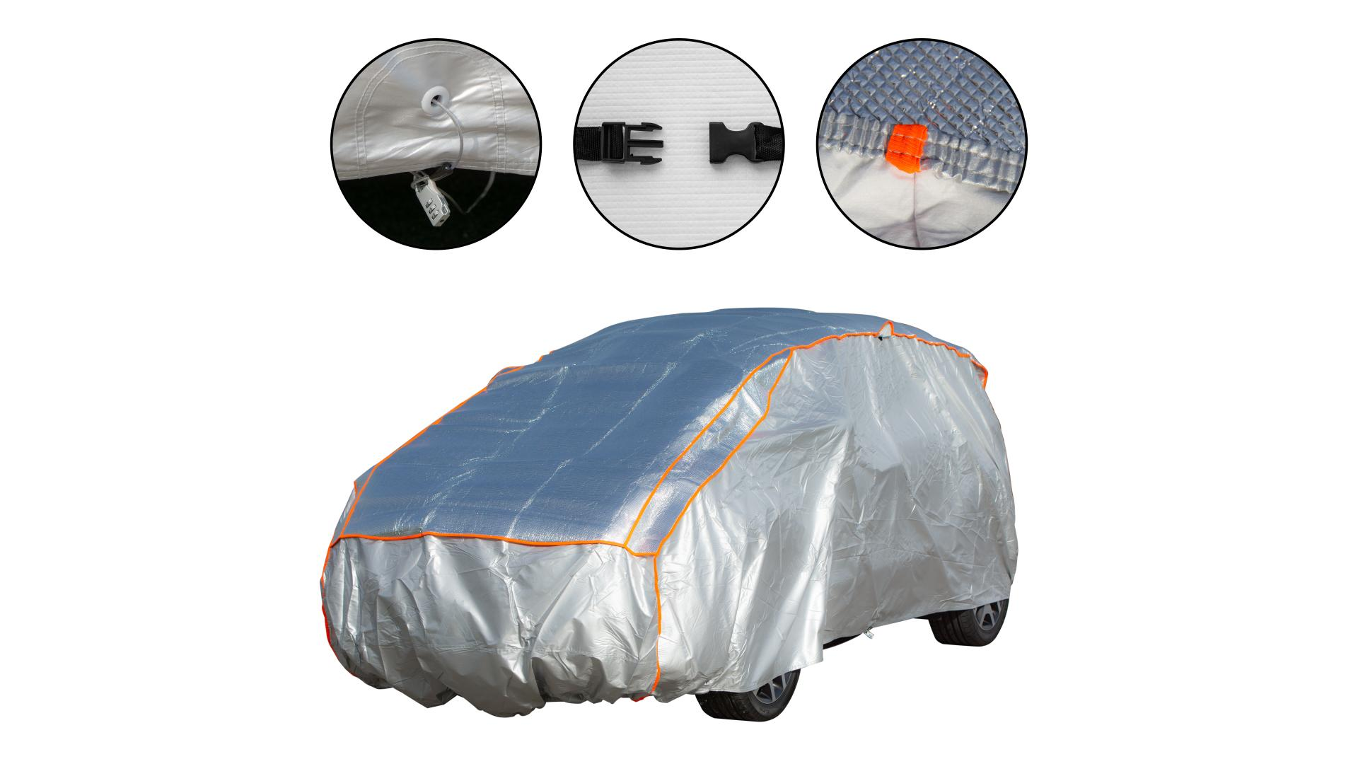 4CARS Anti hail car cover - cotton inside SUV XL