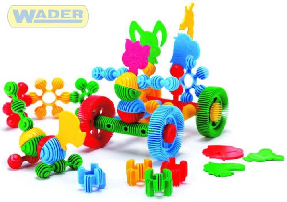 WADER Funny block 45100 plastová skládačka zvířátka 41830