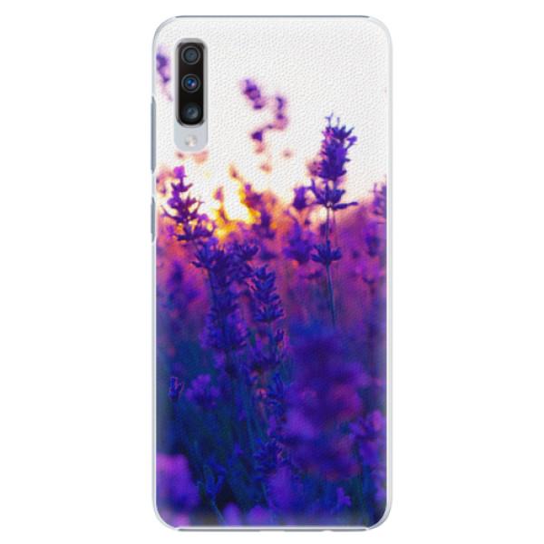 Plastové pouzdro iSaprio - Lavender Field - Samsung Galaxy A70