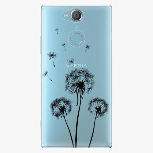 Plastový kryt iSaprio - Three Dandelions - black - Sony Xperia XA2