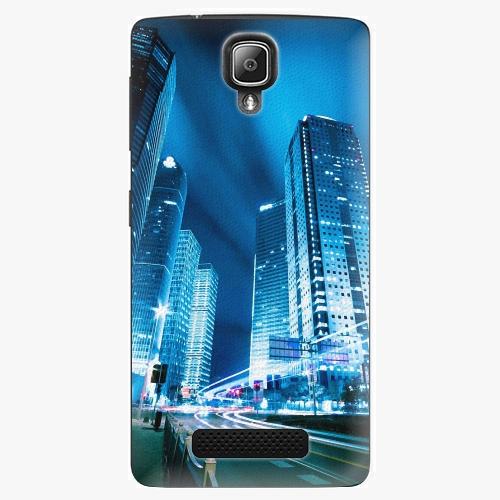 Plastový kryt iSaprio - Night City Blue - Lenovo A1000