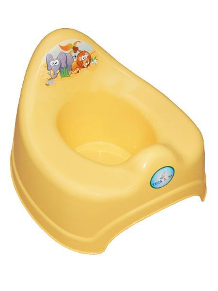 Hrající dětský nočník safari - žlutá