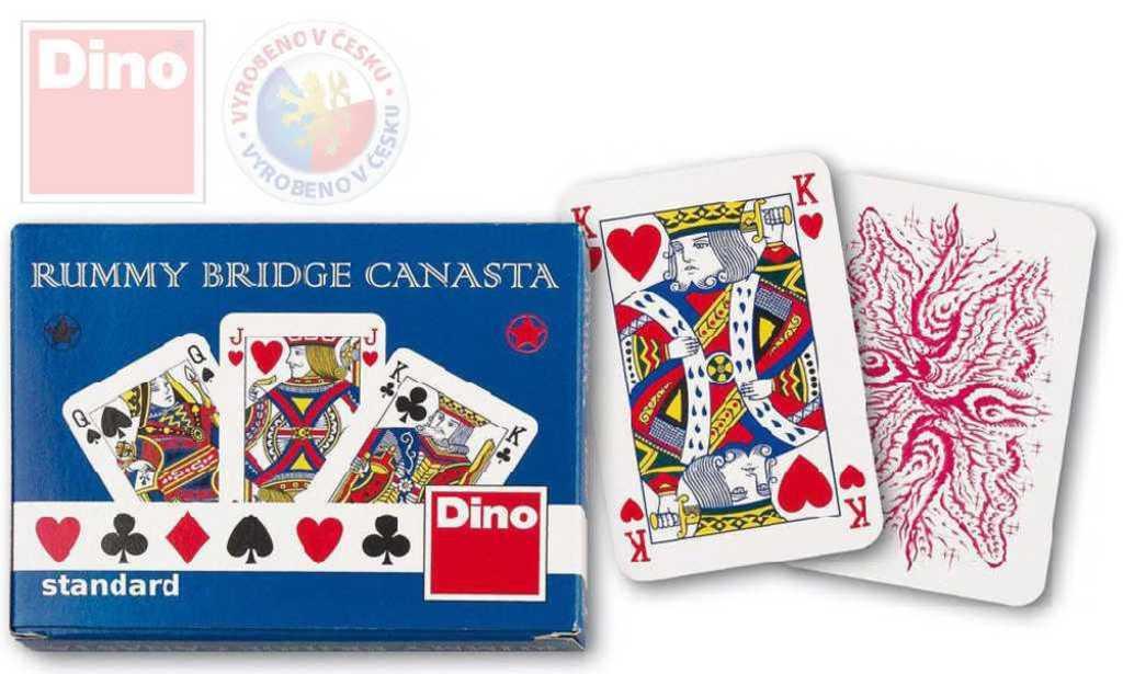 DINO Hra karetní Canasta standard papírová krabička *SPOLEČENSKÉ HRY*