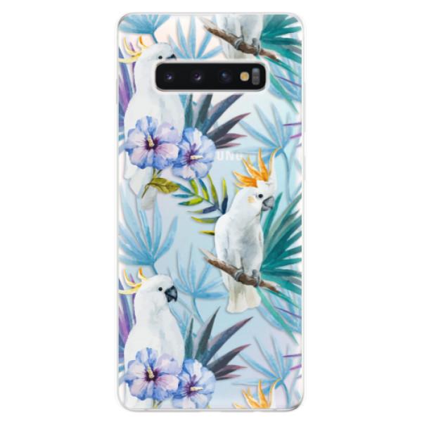 Odolné silikonové pouzdro iSaprio - Parrot Pattern 01 - Samsung Galaxy S10+