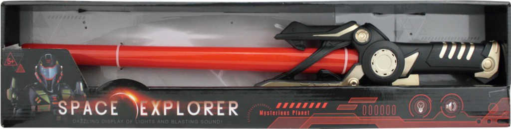 Meč vesmírný červený 60cm na baterie Světlo Zvuk plast