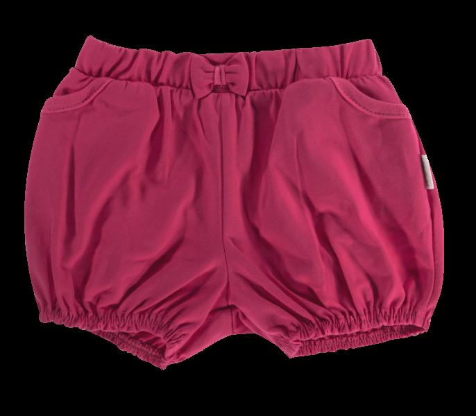 Kojenecké bavlněné kalhotky, kraťásky s mašli Mamatti Motýlek srdíčko