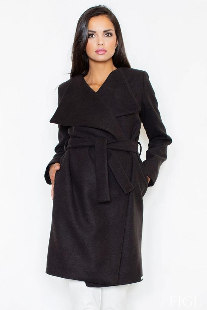 Dámský kabát FIGL M408 černý - L