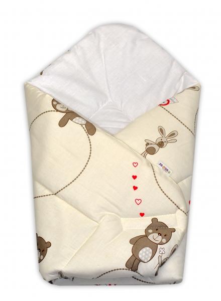 Novorozenecká zavinovačka Míša, 75x75 cm - béžový - Klasické