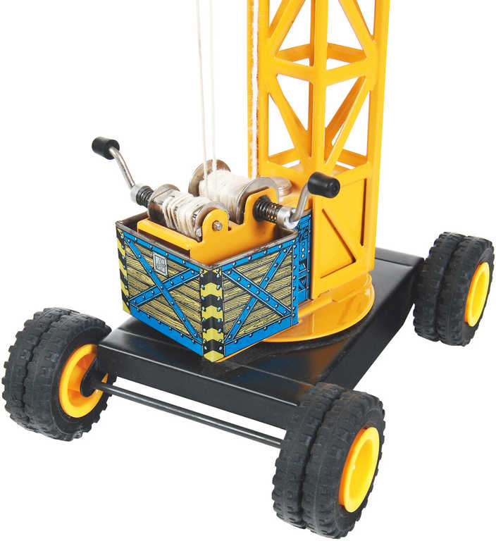 KOVAP Jeřáb bez kolejí funkční plechová hračka Kov 0483