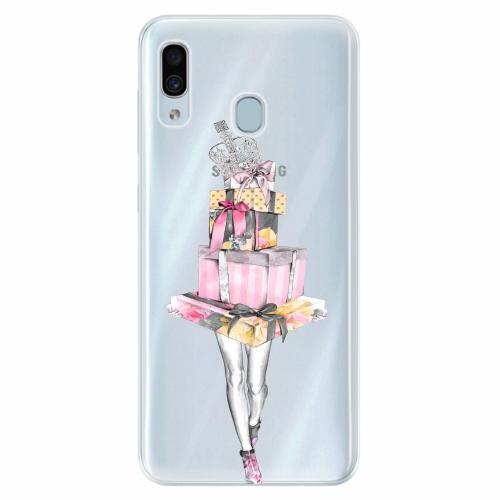Silikonové pouzdro iSaprio - Queen of Shopping - Samsung Galaxy A30