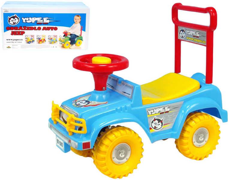Odrážedlo auto jeep YUPEE světle modré Odstrkovadlo PLAST