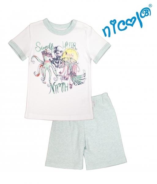 Dětské pyžamo Nicol kr. rukáv/kraťasky, Mořská víla