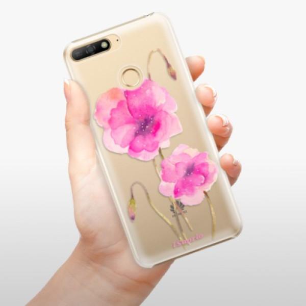 Plastové pouzdro iSaprio - Poppies 02 - Huawei Y6 Prime 2018
